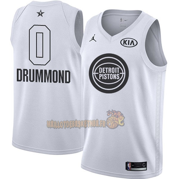 Vente Nouveau Maillot NBA 2018 All Star NO.0 Andre Drummond Blanc pas cher