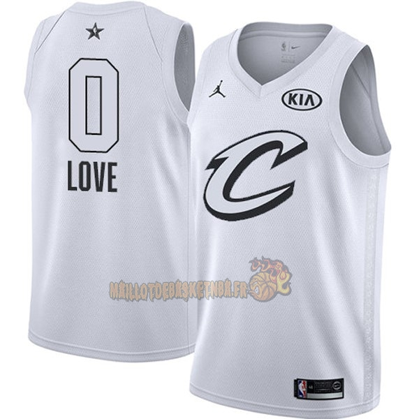 Vente Nouveau Maillot NBA 2018 All Star NO.0 Kevin Love Blanc pas cher