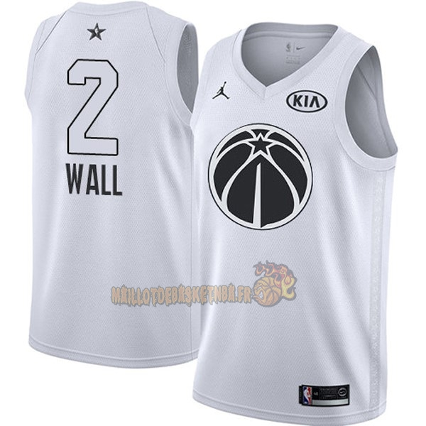 Vente Nouveau Maillot NBA 2018 All Star NO.2 John Wall Blanc pas cher