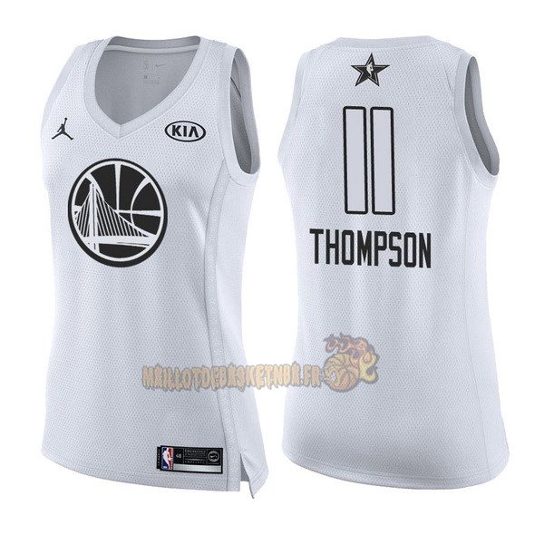 Vente Nouveau Maillot NBA Femme 2018 All Star NO.11 Klay Thompson Blanc pas cher