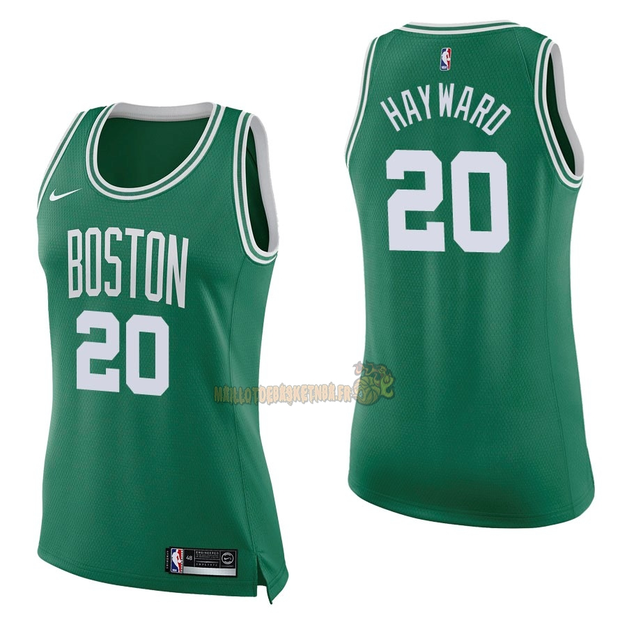 Vente Nouveau Maillot NBA Femme Boston Celtics NO.20 Gordon Hayward Vert Icon pas cher