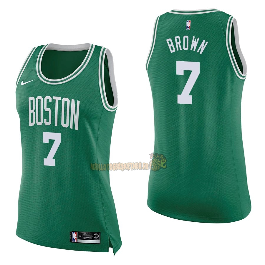 Vente Nouveau Maillot NBA Femme Boston Celtics NO.7 Jaylen Brown Vert Icon pas cher