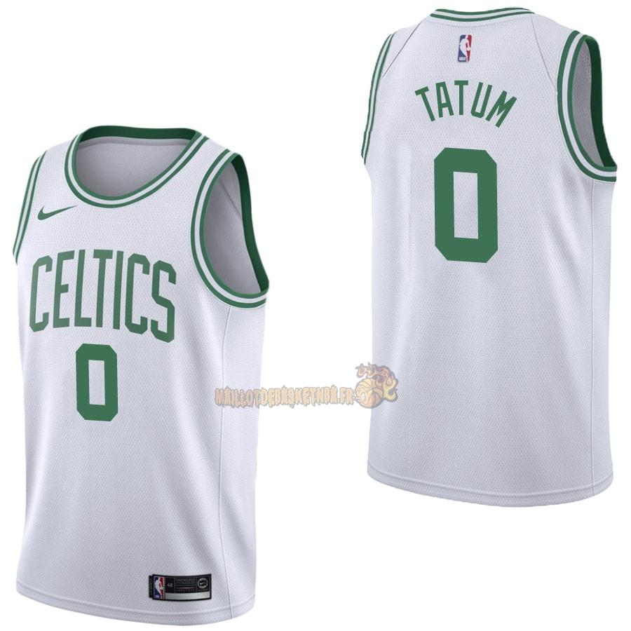 cheap for discount 2ae66 bb385 Vente Nouveau Maillot NBA Nike Boston Celtics NO.0 Jayson Tatum Blanc  Association pas cher
