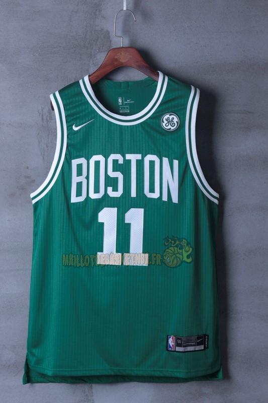 new styles df2fb ecf7c ... Vente Nouveau Maillot NBA Nike Boston Celtics NO.11 Kyrie Irving Vert pas  cher ...