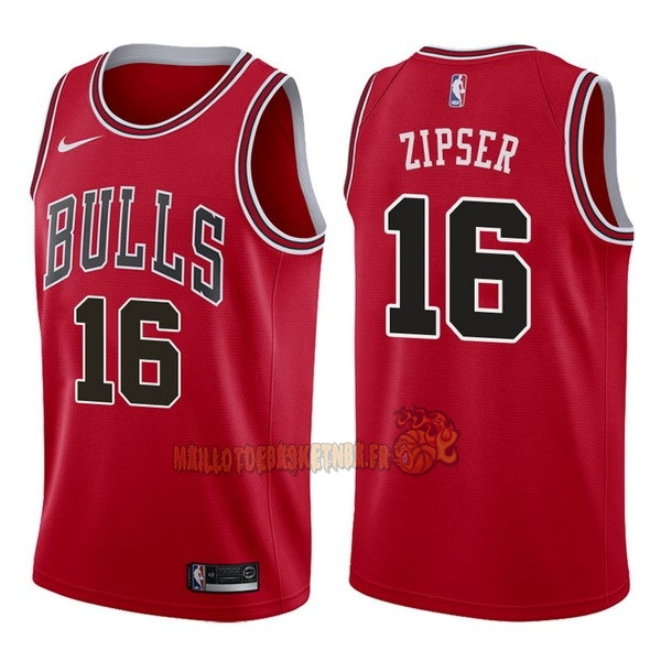 Vente Nouveau Maillot NBA Nike Chicago Bulls NO.16 Paul Zipser Rouge Icon pas cher