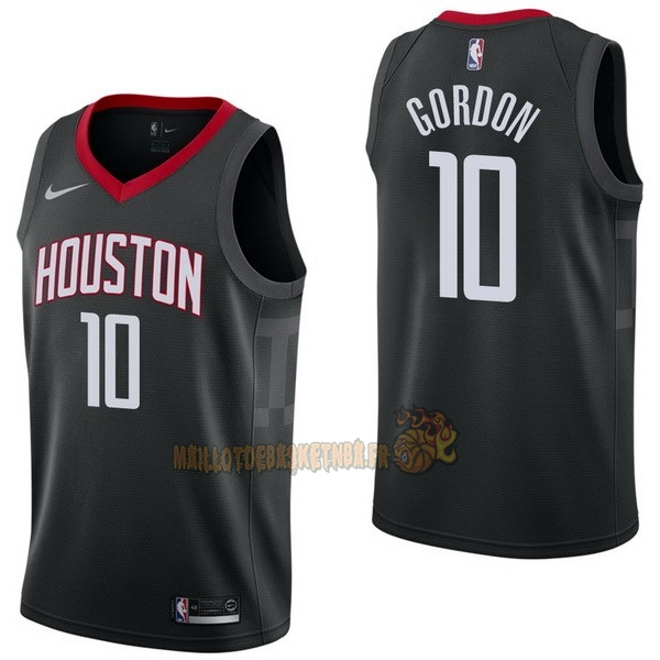 Vente Nouveau Maillot NBA Nike Houston Rockets NO.10 Eric Gordon Noir Statement pas cher
