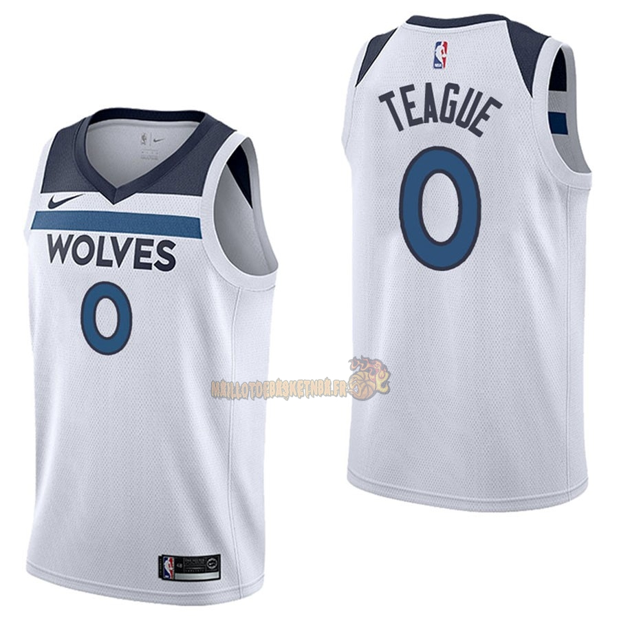 Vente Nouveau Maillot NBA Nike Minnesota Timberwolves NO.0 Jeff Teague Blanc Association pas cher