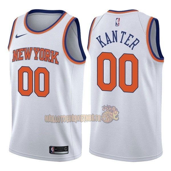 Vente Nouveau Maillot NBA Nike New York Knicks NO.0 Enes Kanter Blanc Association pas cher