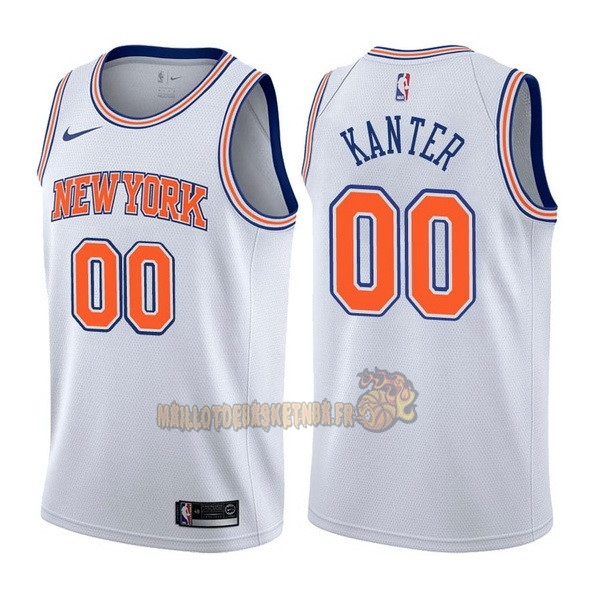 Vente Nouveau Maillot NBA Nike New York Knicks NO.0 Enes Kanter Blanc Statement pas cher