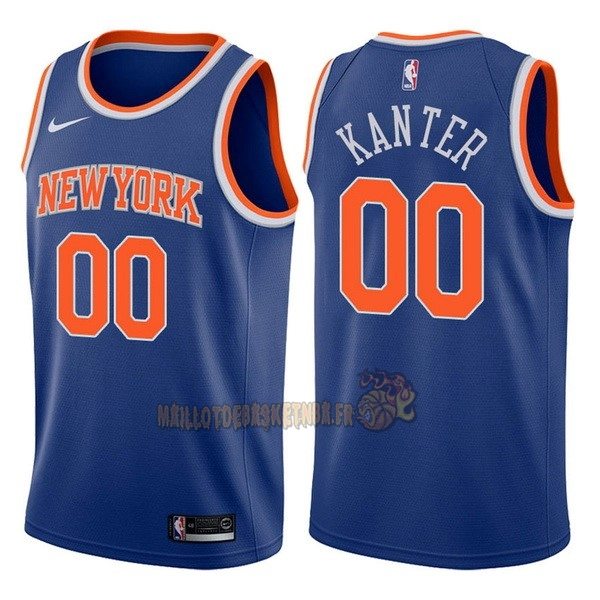 Vente Nouveau Maillot NBA Nike New York Knicks NO.0 Enes Kanter Bleu Icon pas cher