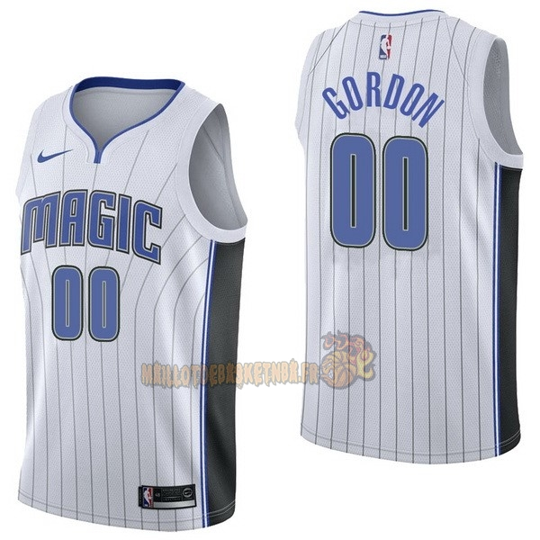 Vente Nouveau Maillot NBA Nike Orlando Magic NO.0 Aaro Gordon Blanc Association pas cher