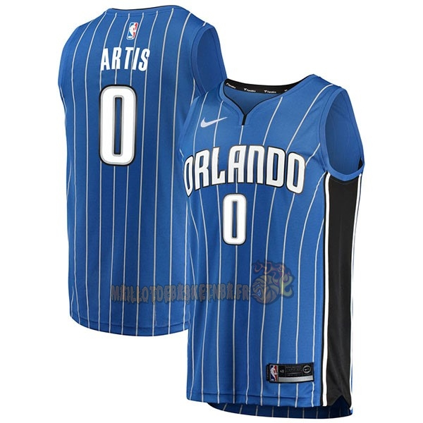 Vente Nouveau Maillot NBA Nike Orlando Magic NO.0 Jamel Artis Bleu Icon pas cher