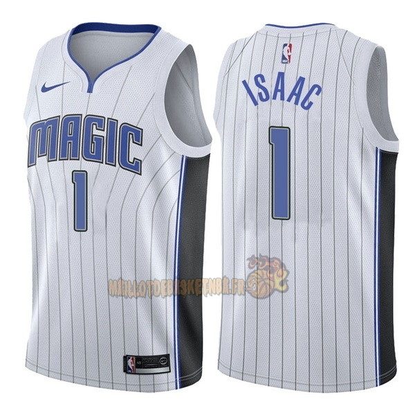 Vente Nouveau Maillot NBA Nike Orlando Magic NO.1 Jonathan Isaac Blanc Association pas cher