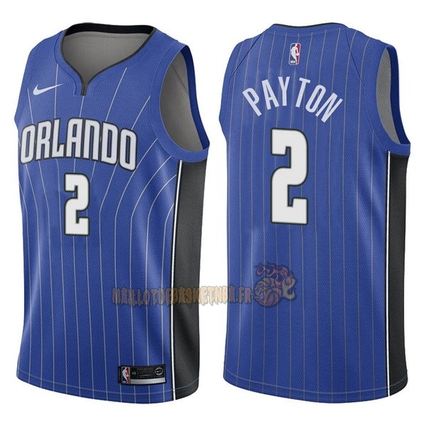 Vente Nouveau Maillot NBA Nike Orlando Magic NO.2 Elfrid Payton Bleu Icon pas cher