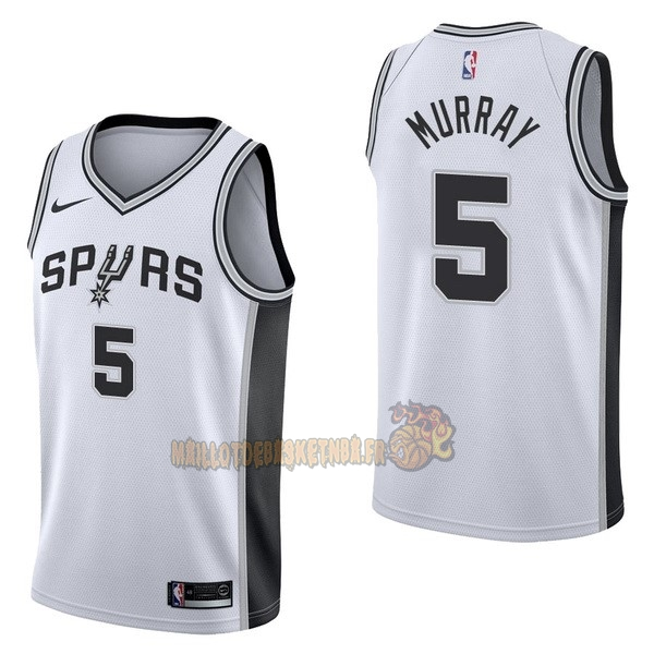 Vente Nouveau Maillot NBA Nike San Antonio Spurs NO.5 Dejounte Murray Blanc Association pas cher