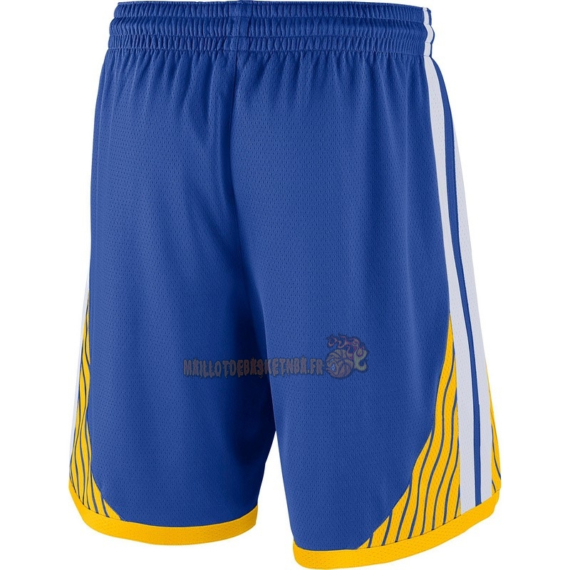 Vente Nouveau Short Basket Golden State Warriors Nike Bleu pas cher
