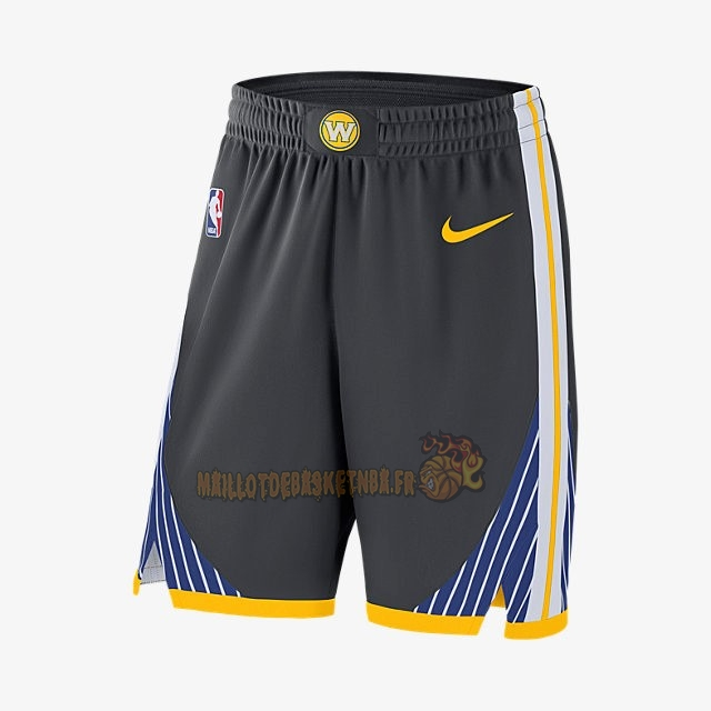 Vente Nouveau Short Basket Golden State Warriors Nike Noir pas cher