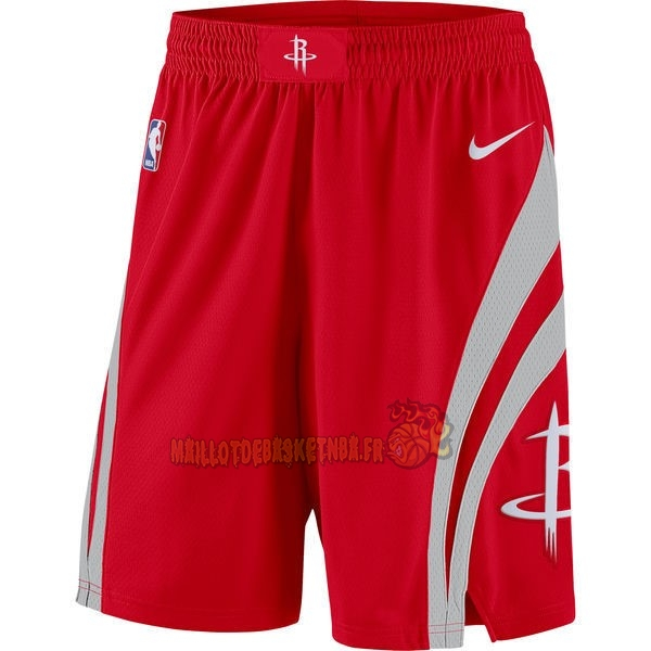 Vente Nouveau Short Basket Houston Rockets Nike Rouge pas cher