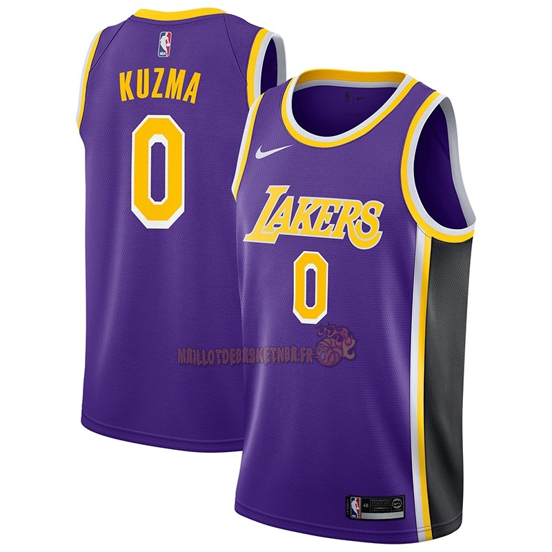 Vente Nouveau Maillot NBA Nike Los Angeles Lakers NO.0 Kyle Kuzma Pourpre Statement 2018-19 pas cher
