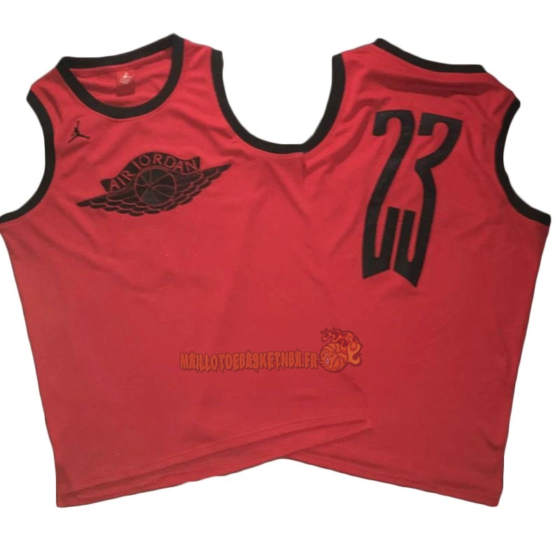 Vente Nouveau Maillot NBA Chicago Bulls NO.23 Michael Jordan Flying Wing Logo Rouge Pas Cher