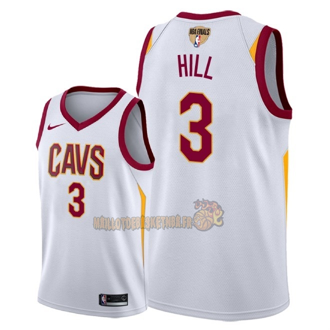 Vente Nouveau Maillot NBA Cleveland Cavaliers 2018 Final Champions NO.3 George Hill Blanc Association Patch Pas Cher