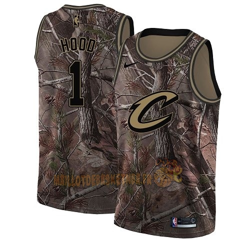 Vente Nouveau Maillot NBA Cleveland Cavaliers NO.1 Rodney Hood Camo Swingman Collection Realtree 2018 Pas Cher