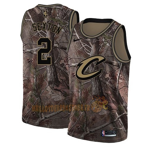 Vente Nouveau Maillot NBA Cleveland Cavaliers NO.2 Collin Sexton Camo Swingman Collection Realtree 2018 Pas Cher