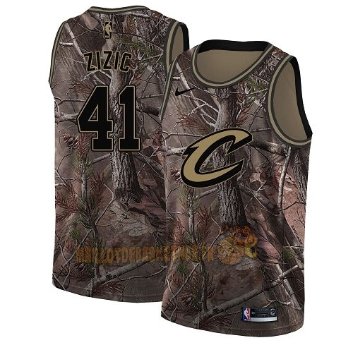 Vente Nouveau Maillot NBA Cleveland Cavaliers NO.41 Ante Zizic Camo Swingman Collection Realtree 2018 Pas Cher