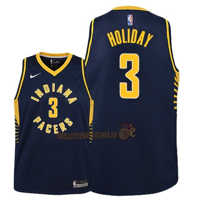 Vente Nouveau Maillot NBA Enfant Indiana Pacers NO.3 Aaron Holiday Marine Icon 2018-19 Pas Cher