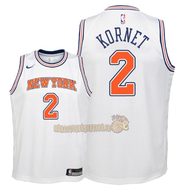 Vente Nouveau Maillot NBA Enfant New York Knicks NO.2 Luke Kornet Blanc Statement 2018 Pas Cher