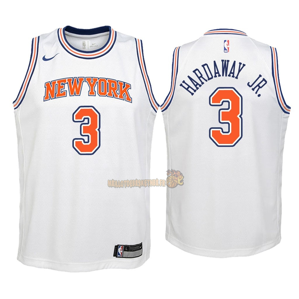 Vente Nouveau Maillot NBA Enfant New York Knicks NO.3 Tim Hardaway Jr Blanc Statement 2018 Pas Cher