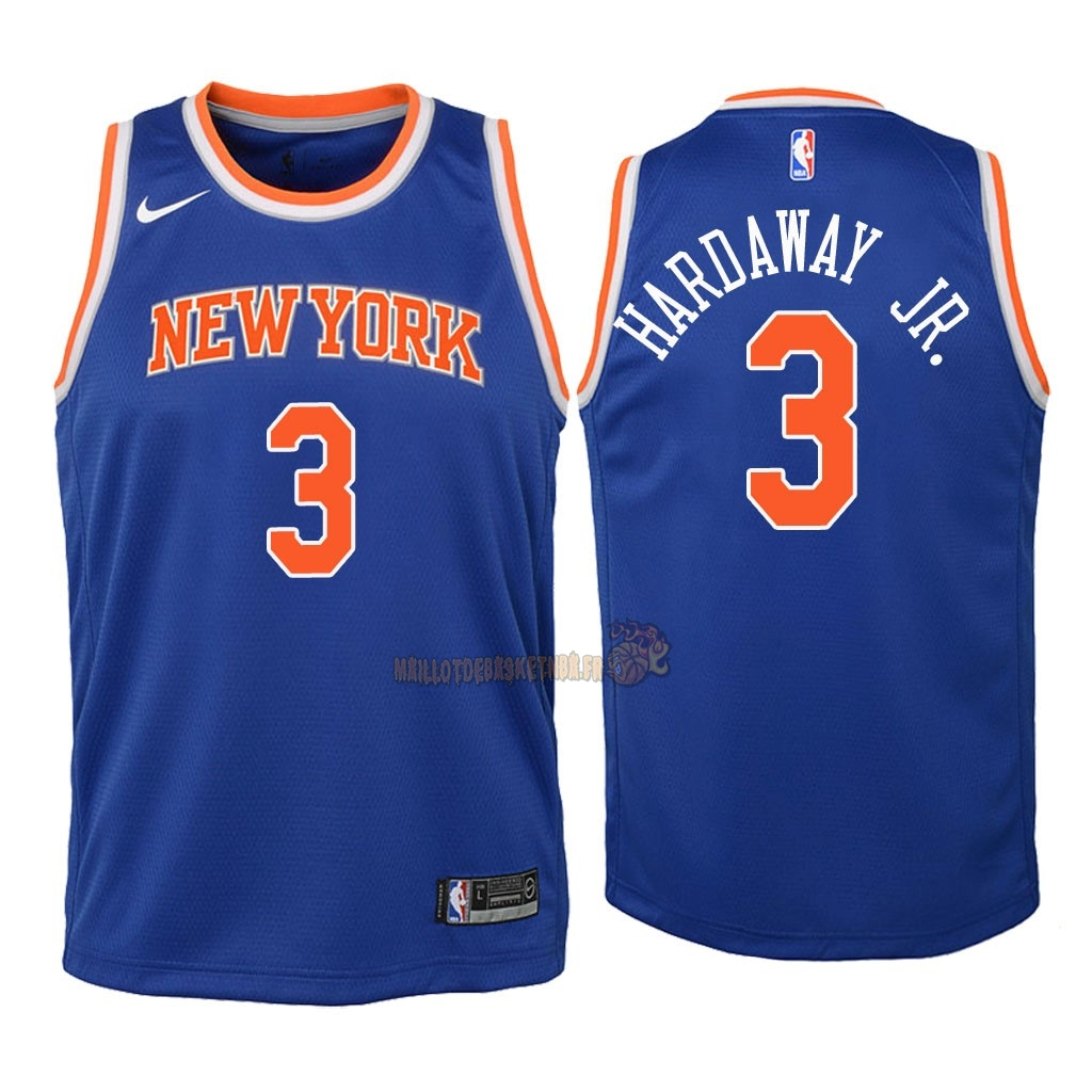 Vente Nouveau Maillot NBA Enfant New York Knicks NO.3 Tim Hardaway Jr Bleu Icon 2018 Pas Cher