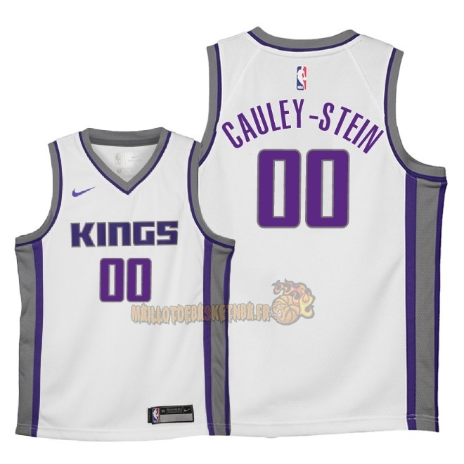 Vente Nouveau Maillot NBA Enfant Sacramento Kings NO.0 Willie Cauley Stein Blanc Association 2018 Pas Cher