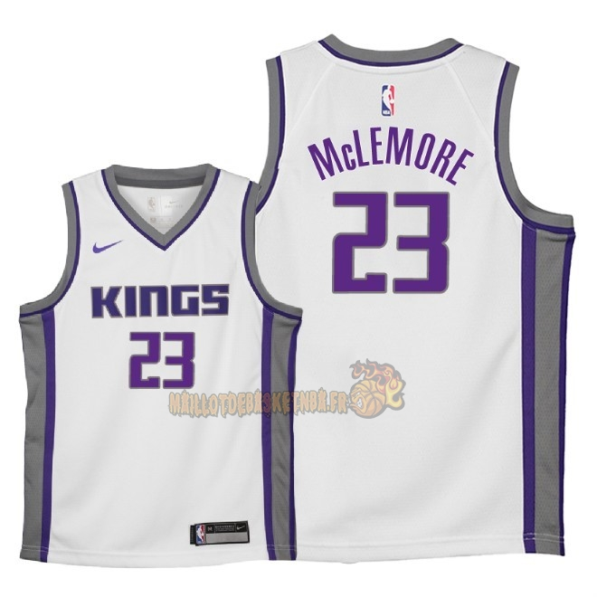Vente Nouveau Maillot NBA Enfant Sacramento Kings NO.23 Ben McLemore Blanc Association 2018 Pas Cher