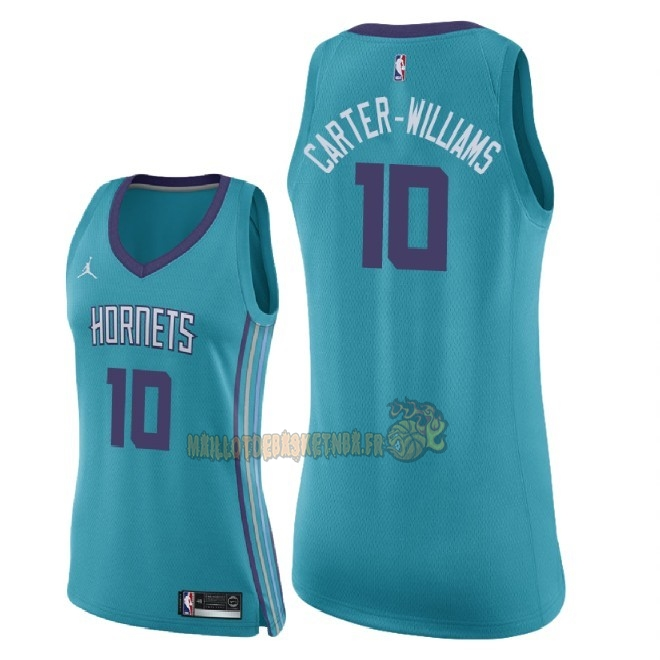 Vente Nouveau Maillot NBA Femme Charlotte Hornets NO.10 Michael Carter Williams Vert Icon 2018 Pas Cher