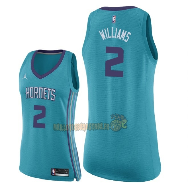 Vente Nouveau Maillot NBA Femme Charlotte Hornets NO.2 Marvin Williams Vert Icon 2018 Pas Cher