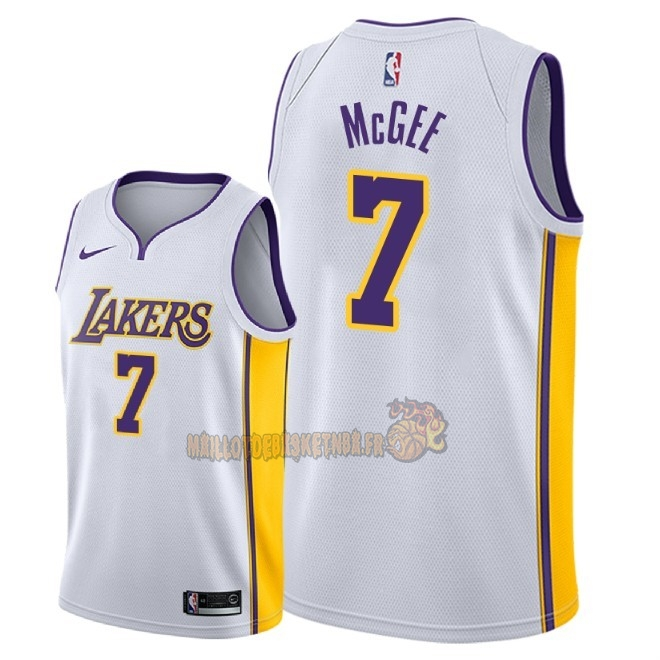 Vente Nouveau Maillot NBA Nike Los Angeles Lakers NO.7 JaVale McGee Blanc Association 2018 Pas Cher