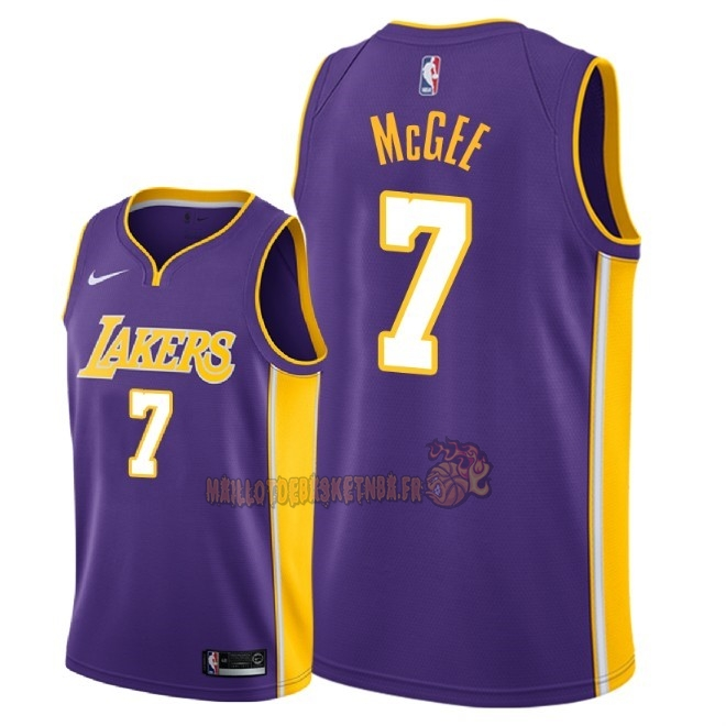 Vente Nouveau Maillot NBA Nike Los Angeles Lakers NO.7 JaVale McGee Pourpre Statement 2018 Pas Cher
