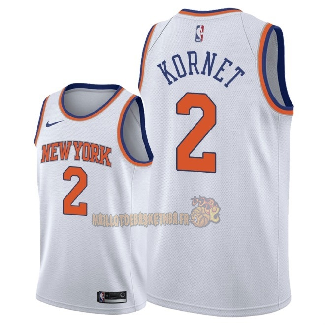 Vente Nouveau Maillot NBA Nike New York Knicks NO.2 Luke Kornet Blanc Association 2018 Pas Cher