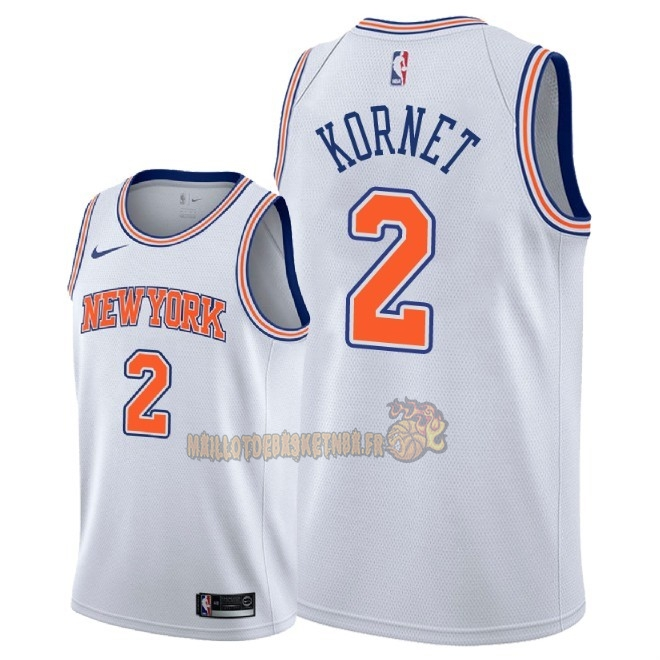 Vente Nouveau Maillot NBA Nike New York Knicks NO.2 Luke Kornet Blanc Statement 2018 Pas Cher