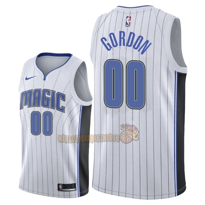 Vente Nouveau Maillot NBA Nike Orlando Magic NO.0 Aaron Gordon Blanc Association 2018 Pas Cher