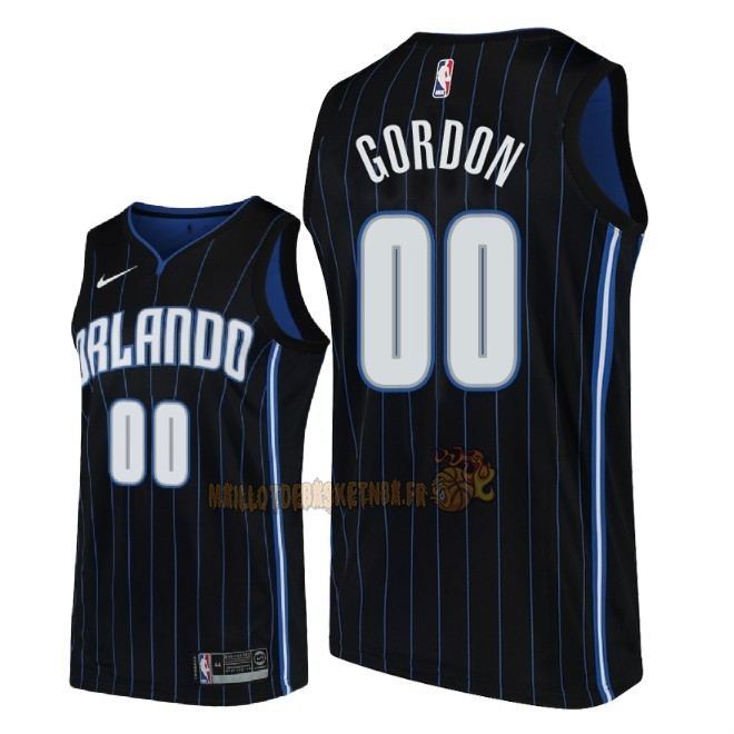 Vente Nouveau Maillot NBA Nike Orlando Magic NO.0 Aaron Gordon Noir Statement 2018 Pas Cher