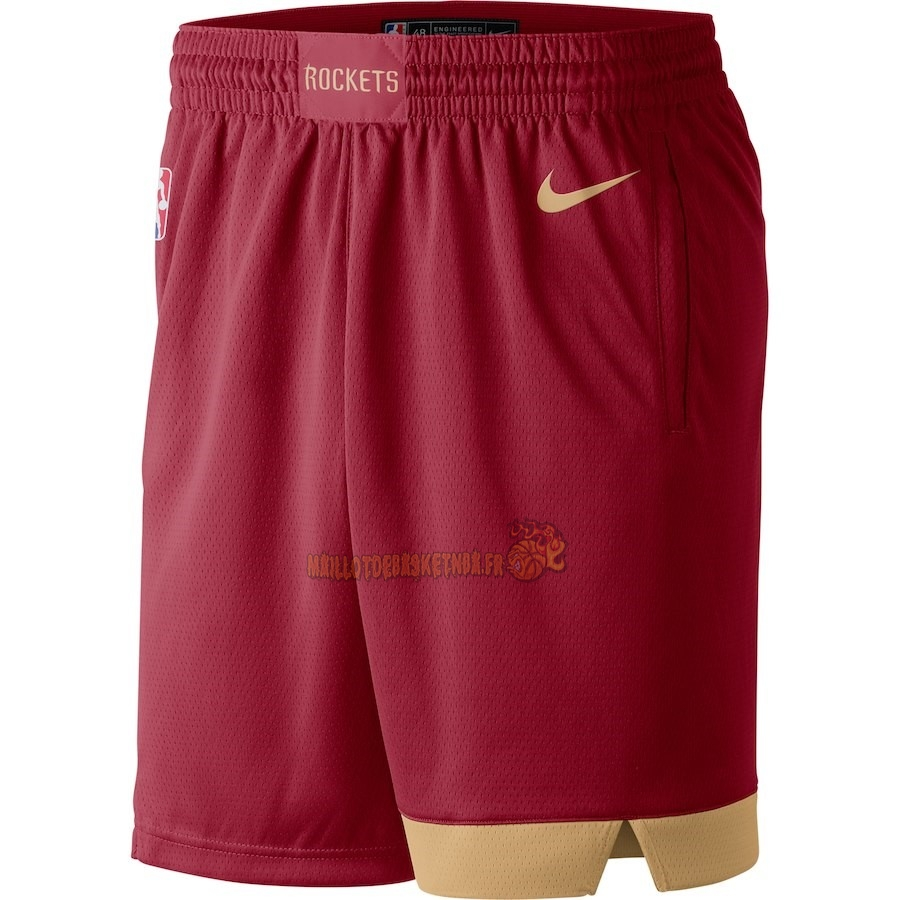 Vente Nouveau Short Basket Houston Rockets Nike Rouge Ville 2018-19 Pas Cher