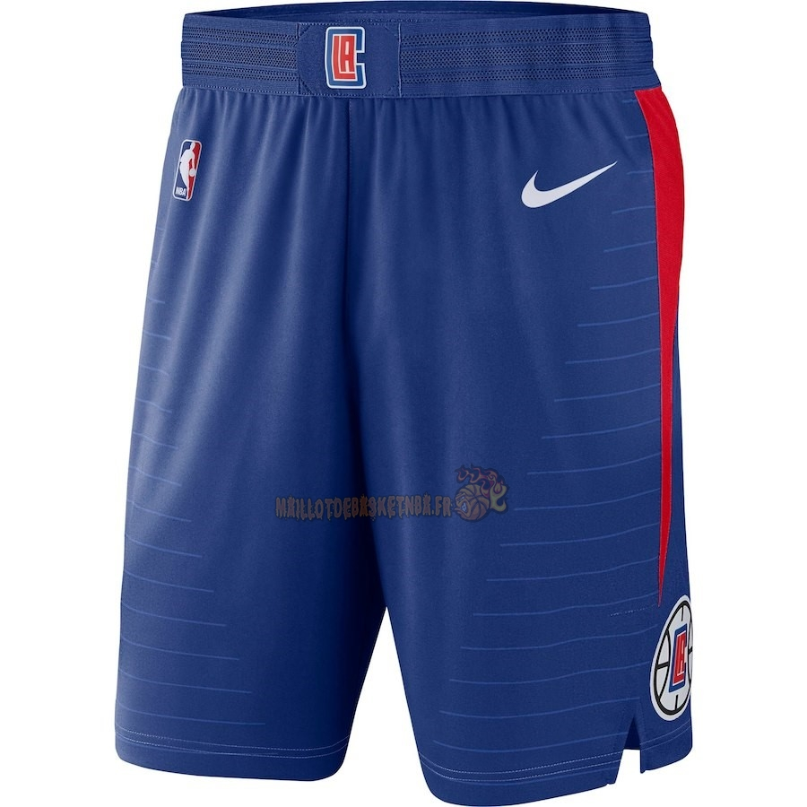 Vente Nouveau Short Basket Los Angeles Clippers Nike Bleu Icon 2018 Pas Cher