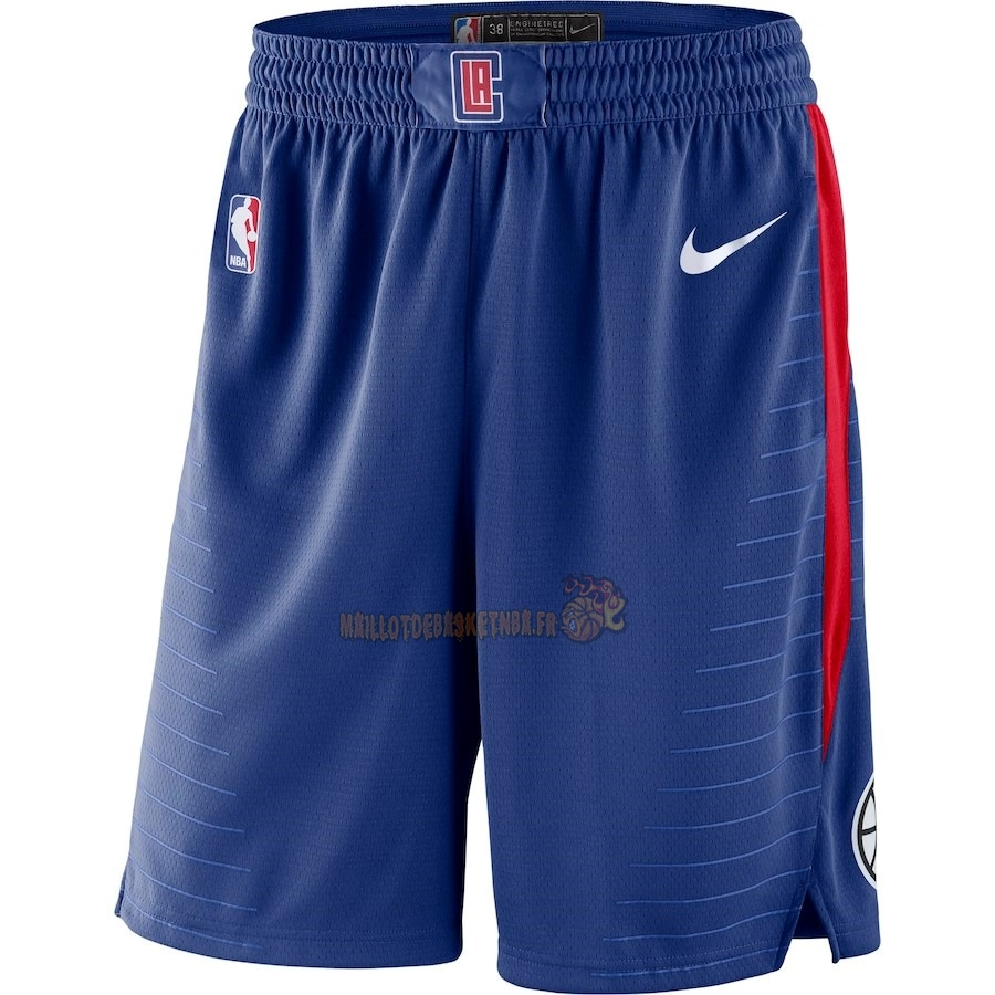 Vente Nouveau Short Basket Los Angeles Clippers Nike Royal Bleu 2018 Pas Cher