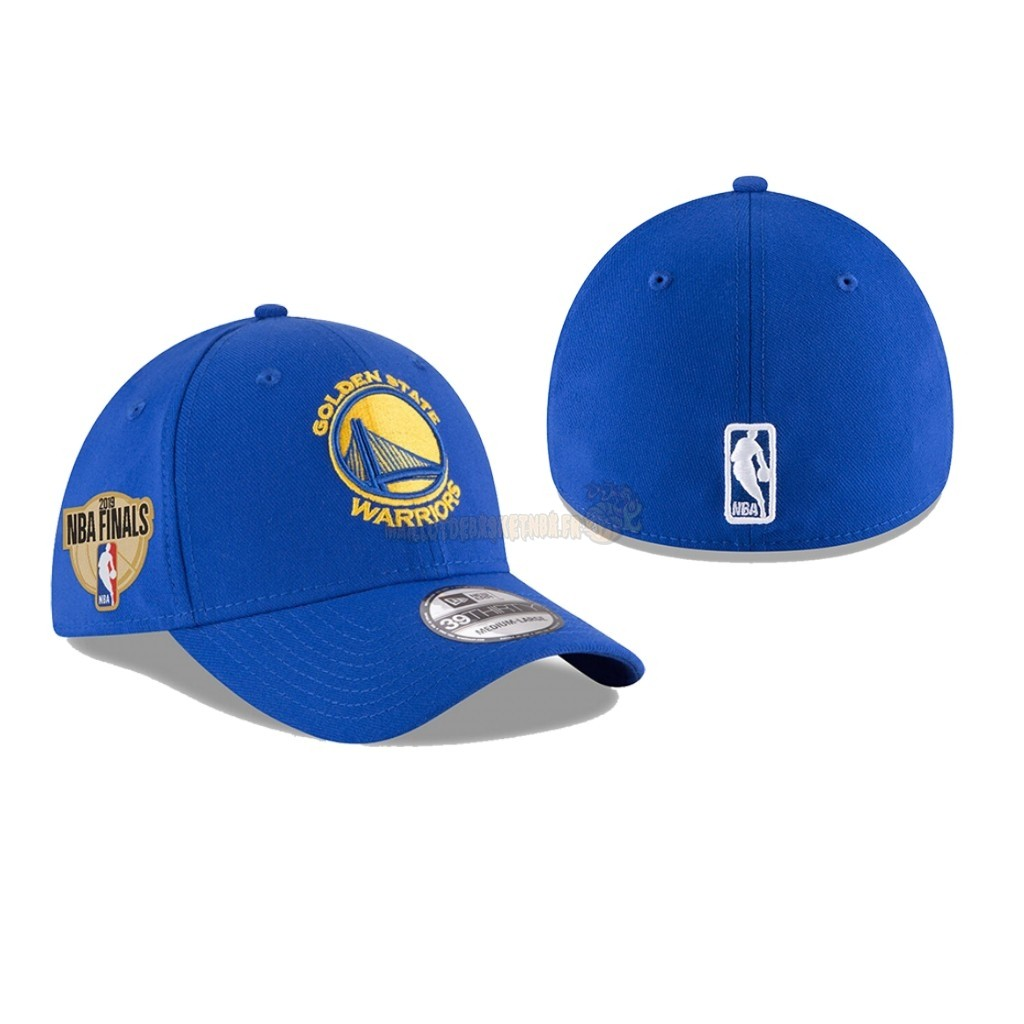 Vente Nouveau Bonnet 2019 NBA Finals Golden State Warriors Bleu 01