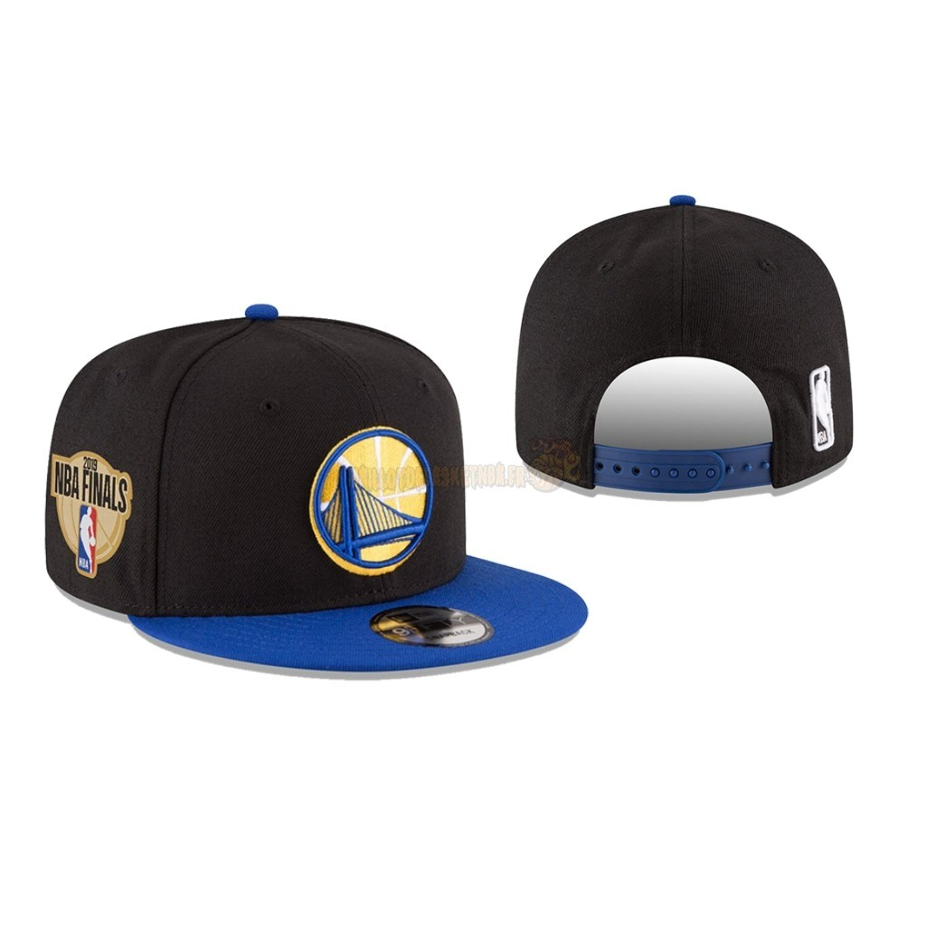 Vente Nouveau Bonnet 2019 NBA Finals Golden State Warriors Noir 01