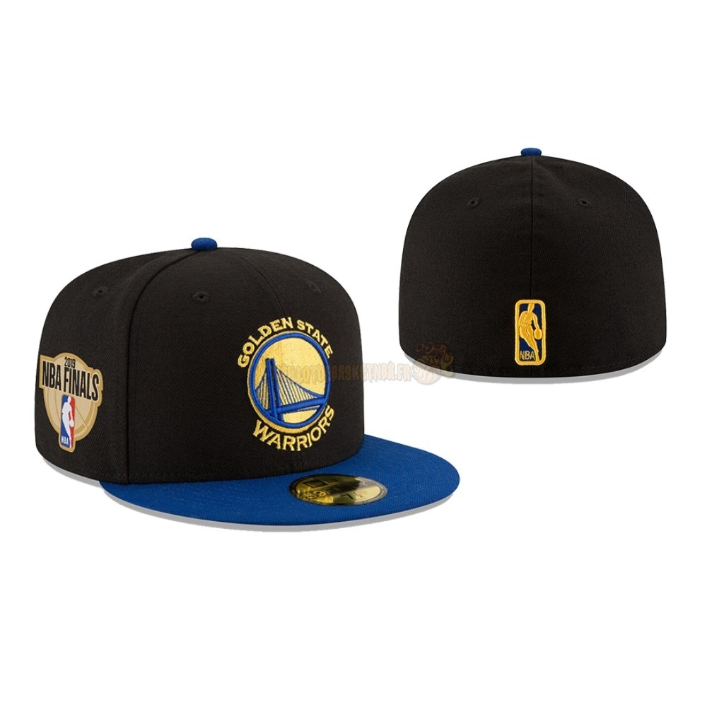 Vente Nouveau Bonnet 2019 NBA Finals Golden State Warriors Noir 02