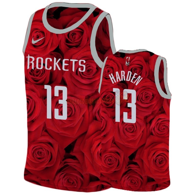 Vente Nouveau Maillot NBA Nike Houston Rockets NO.13 James Harden Rouge