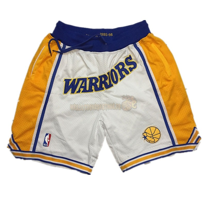 Vente Nouveau Short Basket Golden State Warriors Curry Blanc
